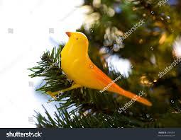 antique tree yellow bird ornament stock photo 5363464