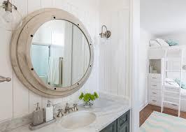 Beachy Bathroom Mirrors by Bathroom Mirror And Sconces The Bathroom Sconces Are The Hinkley