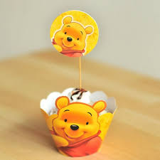 24set cute winnie pooh cupcake wrappers cases decoration