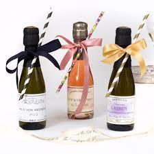 wedding favours personalised miniature sparkling rosé wedding favours 20cl