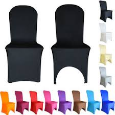 100 white black ivory arched flat front spandex chair covers lycra