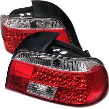 e38 euro tail lights spyder red clear led tail lights bmw e39 5 series 97 00 carbon
