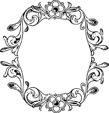vintage frame border floral decorative frame border vintage m