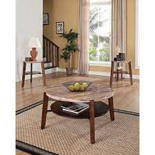 oak end tables and coffee tables dark oak faux marble coffee end tables 3 piece set free