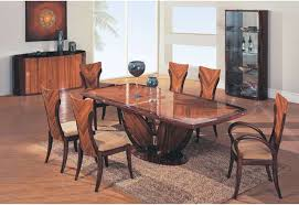 modern wood dining room sets of simple fancy solid table