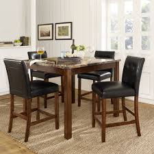 Mediterranean Dining Room Furniture by Mainstays 5 Piece Glass Top Metal Dining Set Walmart Com