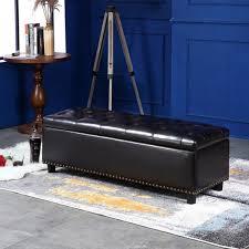 Large Storage Ottoman Bench 48