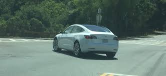 watch tesla model 3 prototype being chased around palo alto during