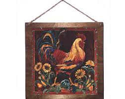 Rooster Home Decor Rustic Rooster Etsy
