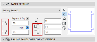 Define Banister Panel Settings Railing Tool Help Center Archicad Bimx Bim
