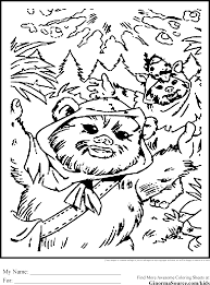 star wars ewok coloring pages many interesting cliparts