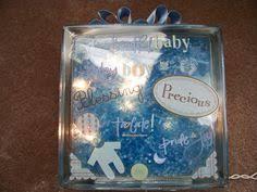 How To Decorate Glass Blocks Baby Boy Glass Block Glass Blocks Pinterest Boys Glasses