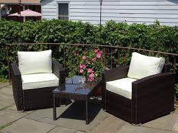 white wicker side table furnitures patio resin outdoor 3 pc wicker lounge set dark brown 2
