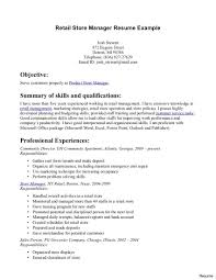 retail manager resume exles retail operations and sales manager resume 2 managers 1a exle