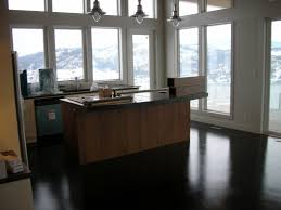 Best Kitchen Flooring Material Best Kitchen Counter Material With Black Tile Floor Design For