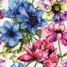 design works watercolor floral needlepoint kit 2619 123stitch