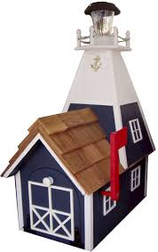 decorative lighthouses for in home use wooden mailboxes amish handcrafted mail boxes