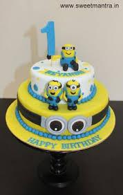 The Fc Barcelona Minion Birthday Cake By Cake Walk Abu Dhabi