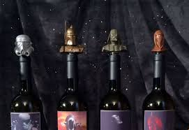 halloween wine bottle stoppers star wars wine stoppers u0026 lightsaber cheese knives dudeiwantthat com