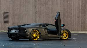 lamborghini aventador gold satin matte black lamborghini aventador lp700 4 bronze gold wheels