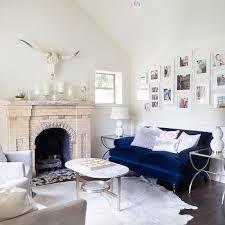mismatched end tables transitional living room