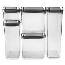 Storage Containers For Kitchen Cabinets Oxo Steel Pop 5 Piece Stainless Steel Food Storage Container Set
