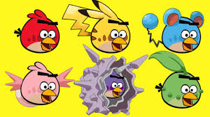 learn colors angry birds transforms pokemon angry