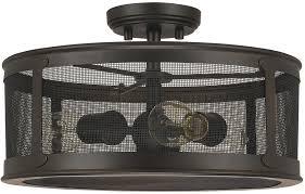 industrial semi flush mount lighting capital lighting 9617ob dylan old bronze exterior semi flush flush