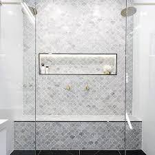 Marble Mosaic Floor Tile Carrara Tile Bathroom Marble Mosaic 21430 Home Designs