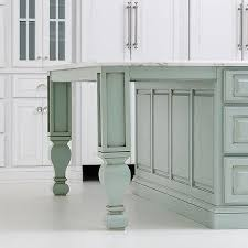 legs for kitchen island mint green kitchen island with turned legs transitional kitchen