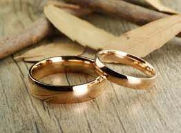 plain gold wedding bands handmade gold dome plain matching wedding band rings set