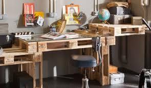 bureau palette bois deco palette et caisse en bois with deco palette et caisse en bois