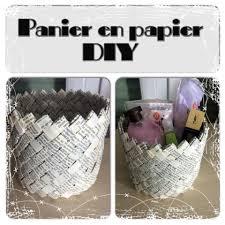 fabriquer cache poubelle panier en papier 100 récupération 0 euro youtube