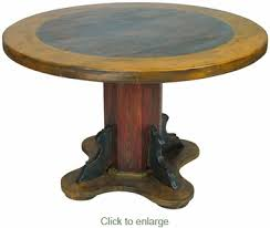 Mexican Dining Room Furniture by Round Painted Wood Mexican Pedestal Dining Table