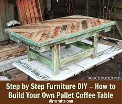 build your own table step by step furniture diy how to build your own pallet coffee