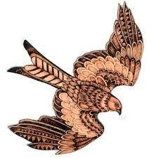 wood burning wall kite wall hanging hawk pyrography wood burning bird of prey