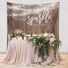 wedding backdrop for pictures wood backdrop custom tapestry rustic wedding dessert table