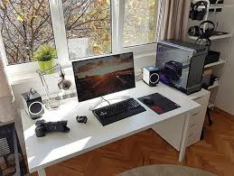 Home Office Gaming Setup 866 Best Gaming Office Images On Pinterest Gaming Setup Pc