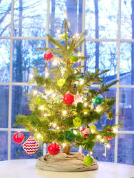 decorating our tabletop tree with handmade ornaments young house