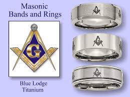 titanium style rings images Men 39 s masonic titanium wedding band style rings from gem of the day jpg