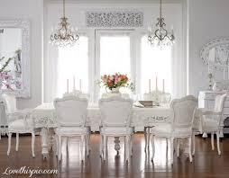 Elegant All White Formal Dining Room Home White Style Formal - Formal dining room