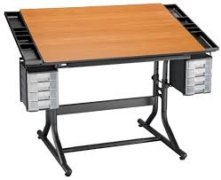 Drafting Tables Toronto Deluxe Drawing And Hobby Table Black Base With Cherry