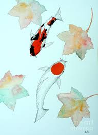 japanese koi tancho and showa sanke painting painting by gordon