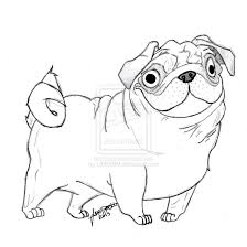 pug coloring pages free printable for kids pug coloring pages