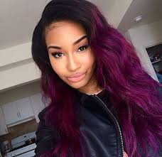 weave hairstyles with purple tips 1000 images about hairstyles on pinterest violet of violet hair