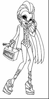 wonderful monster high coloring pages with coloring pages monster