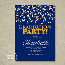 Graduation Party Invitation Card Confetti 2017 Graduation Party Birthday Party Invitation Gold