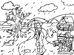 Heavy Rain Coloring Page Bebo Pandco Rainy Day Coloring Pages