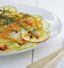 cuisiner haddock carpaccio de pommes et haddock les meilleures recettes de cuisine
