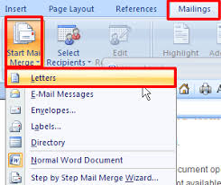 mail merge from excel creating a form letter using mail merge